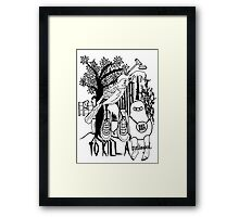 To Kill a Mockingbird (black and white) Framed Print