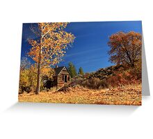 The Old Bunkhouse Landscape Greeting Card