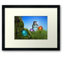 Easter Egg Hunting Squirrel Framed Print