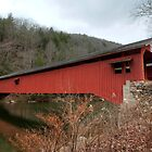 Freshly Rejuvenated Hillsgrove Covered Bridge by Gene Walls