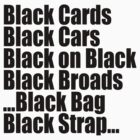 Jay Z & Kanye West - Black cards/cars/broads/bag/strap by tmiller9909