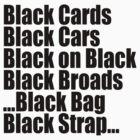 Jay Z & Kanye West - Black cards/cars/broads/bag/strap by tmiller9909
