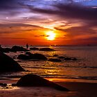 Karon Beach Rock Fisherman Phuket Thailand by MikeAndrew