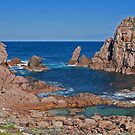 Sugarloaf Rock and Channel, Western Australia by Leonie Mac Lean