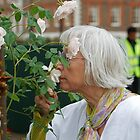 Smelling Roses at the RHS Chelsea Flower Show 2013 by Keith Larby