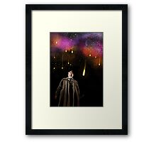 The angels are Falling Framed Print