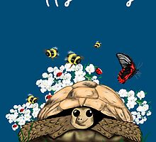 Happy Birthday Card - tortoise art by LeahG by LeahG Artist