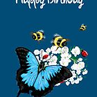 Happy Birthday Card - Butterfly Dance by LeahG Artist