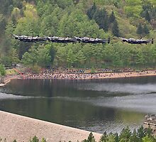 Dambusters 70 Years On - Flypast At The Derwent Dam - 8 by Colin  Williams Photography