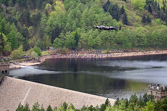 Dambusters 70 Years On - Flypast At The Derwent Dam - 2 by Colin J Williams Photography