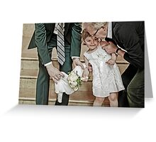 Little White Dress Greeting Card