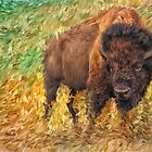 American Bison - Digital Painting by Doreen Erhardt