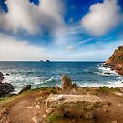 Seat with a view Cot Valley Cornwall by Chris Thaxter