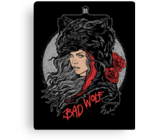 Bad Wolf-Black Canvas Print