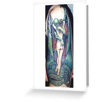 Boris Valejio fantasy piece Tattooed  Greeting Card