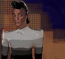 Janelle Monae, the Replicant by teaandink
