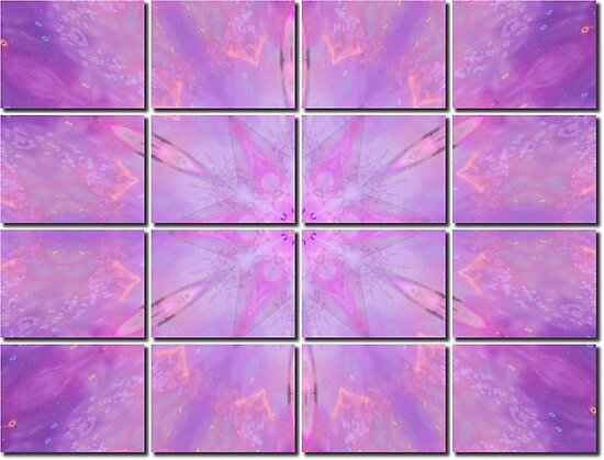 Soft Pink Fractal Tiled by Tori Snow