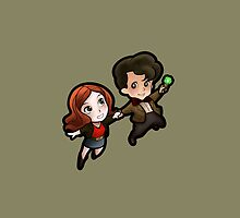 The Doctor and Amy iPhone Case by sonicsandwands