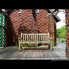 Planting Fields Arboretum Bench By The Red Brick Play House - Upper Brookville, New York by © Sophie Smith