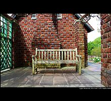 Planting Fields Arboretum Bench By The Red Brick Play House - Upper Brookville, New York by © Sophie W. Smith