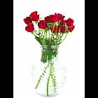 Bouquet Of Red Roses In A Glass Vase by © Sophie Smith
