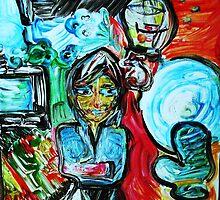 DEPRESSION - acrylic, tempera, paper 22 x 28'' by irishrainbeau