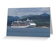 The Celebrity Silhouette Greeting Card