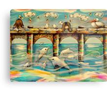 Dolphin Pier Metal Print