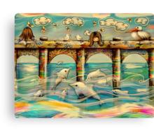 Dolphin Pier Canvas Print