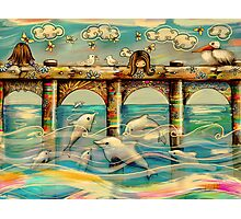 Dolphin Pier Photographic Print