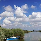 Little Blue Boat At The Lagoon by Emmeci74