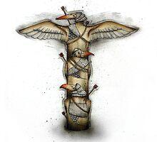 Three Bird Totem by Kaitlin Beckett