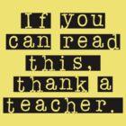Thank a Teacher Kids' Black by CaelisMiran