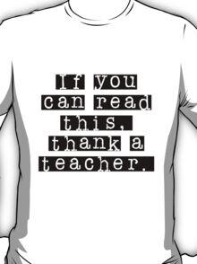 Thank a Teacher Kids' Black T-Shirt