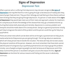 Signs Of Depression by vanessaelizebet