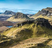 Three ridges from The Quiraing. Isle of Skye by Richard Youell
