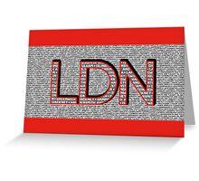 London Boroughs LDN Greeting Card