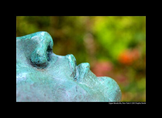 Planting Fields Arboretum State Historic Park Statue Face Detail - Upper Brookville, New York by © Sophie W. Smith