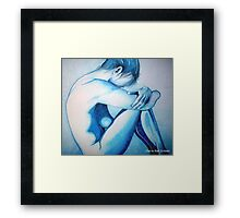 Caught up in Blue Framed Print