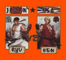 Street Fighter - Ryu vs Ken Kids Clothes