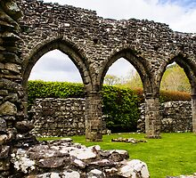 Cymer Abbey Ruins by mlphoto