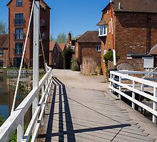 West Mills Swing Bridge Newbury by mlphoto