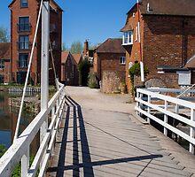West Mills Swing Bridge Newbury by mlphoto
