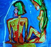 SISTERS - acrylic, tempera, paper 22 x 28'' by irishrainbeau