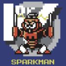 Spark Man with Yellow Text by Funkymunkey