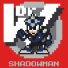 Shadow Man with Ice Blue Text by Funkymunkey