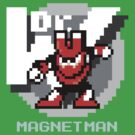 Magnet Man with Ice Blue Text by Funkymunkey