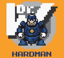 Hard Man with Blue Text by Funkymunkey
