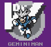 Gemini Man with Grey Text by Funkymunkey