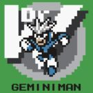 Gemini Man with Black Text by Funkymunkey